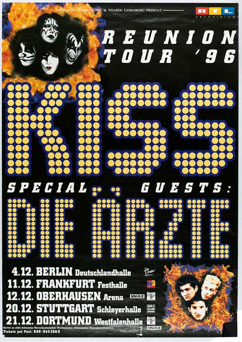 Poster from Oberhausen, Germany 12 December 1996 show