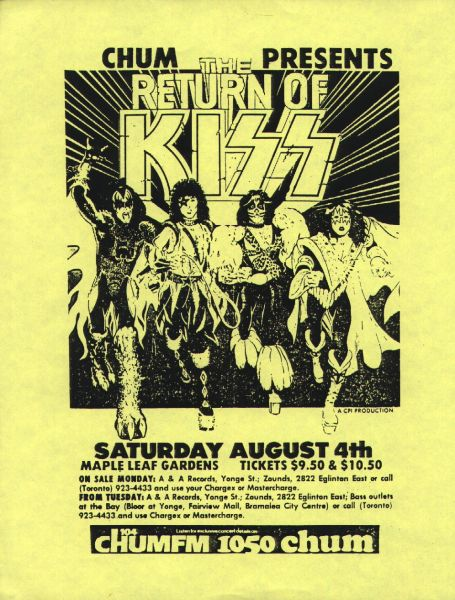 Poster from Toronto, Canada 04 August 1979 show