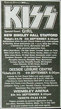 Poster from 05 September 1980 show Stafford, England