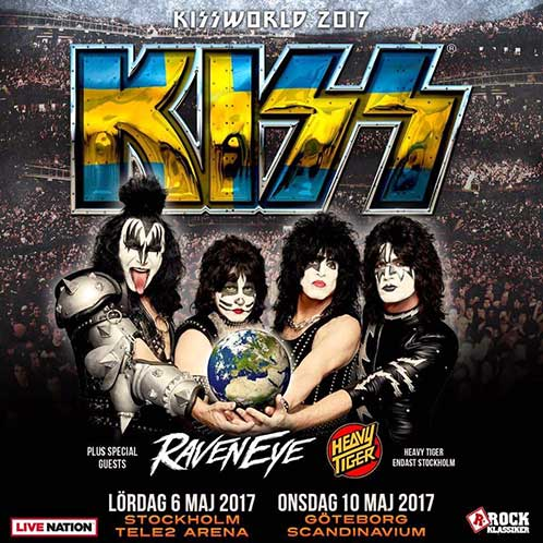 Poster from Kiss Gothenburg, Sweden 10 May 2017 show