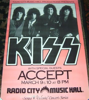 Poster from New York, NY, USA 09 March 1984 show