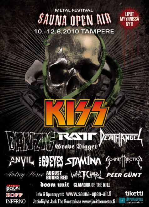 Poster from Tampere, Finland 10 June 2010 show
