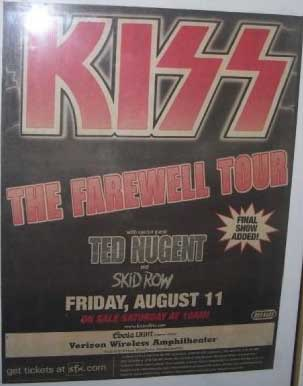 Poster from Irvine (Los Angeles), CA, USA 11 August 2000 show