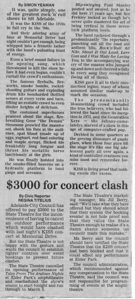Review from Adelaide, 11 February 1997 show