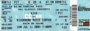 Ticket from Cincinnati, OH, USA 11 July 2004 show