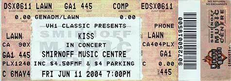 Ticket from Dallas, TX, USA 11 June 2004 show