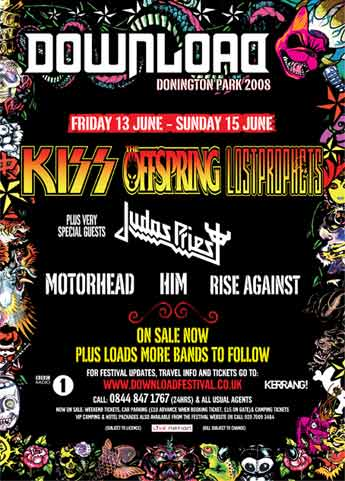Poster from Donington, England 13 June 2008 show