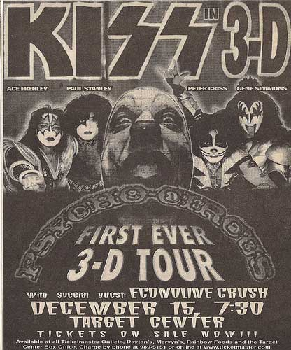 Advert from Minneapolis, MN, USA 15 December 1998 show