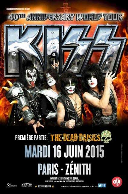 Poster from Paris, France 16 June 2015 show