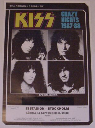 Flyer from Stockholm, Sweden 17 September 1988 show