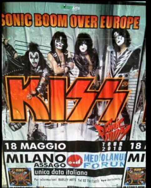 Poster from 18 May 2010 show Milano, Italy