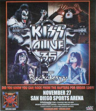 Poster from 27 November 2009 show San Diego, CA, USA