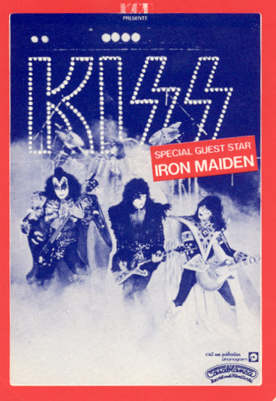 Poster from 27 September 1980 show Paris, France