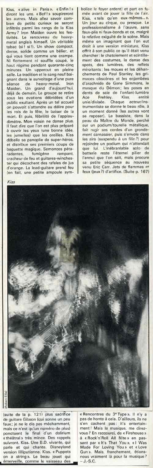 Review from 27 September 1980 show Paris, France