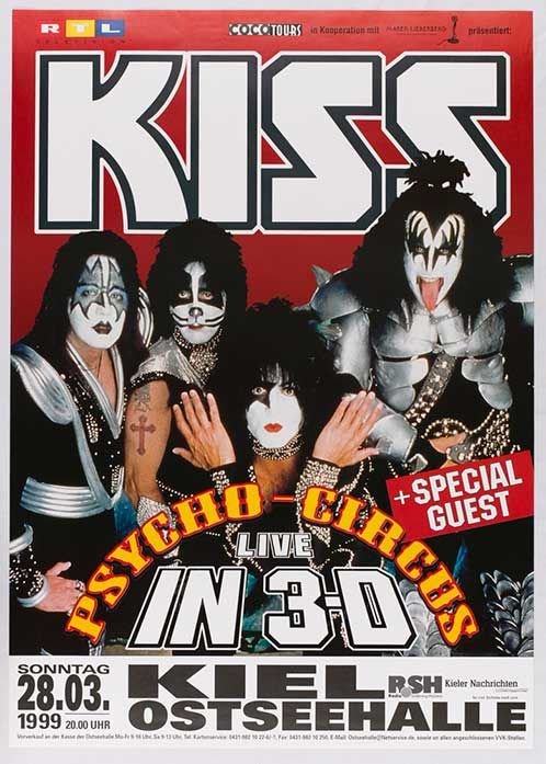 Poster from Kiel, Germany 28 March 1999 show