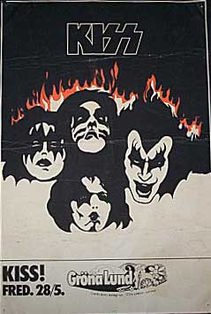 Poster from 28 May 1976 show Stockholm, Sweden