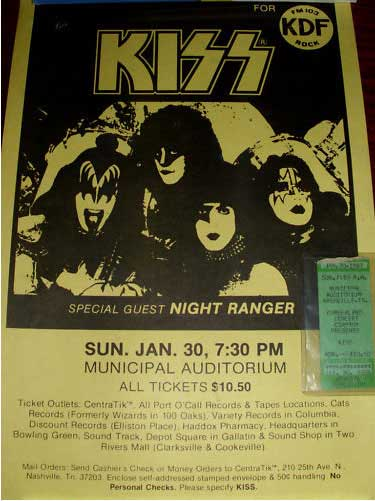 Poster from Nashville, TN, USA 30 January 1983 show