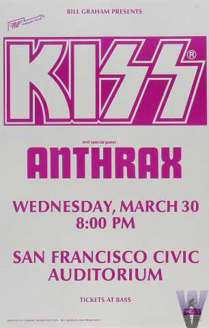 Poster from San Francisco, CA, USA 30 March 1988 show
