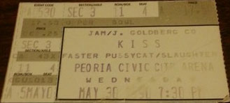 Ticket from Peoria, IL, USA 30 May 1990 show