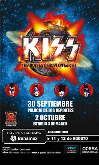 Poster from Guadalajara, Mexico 02 October 2010 show