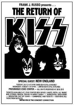 Poster from Providence, RI, USA 31 July 1979 show