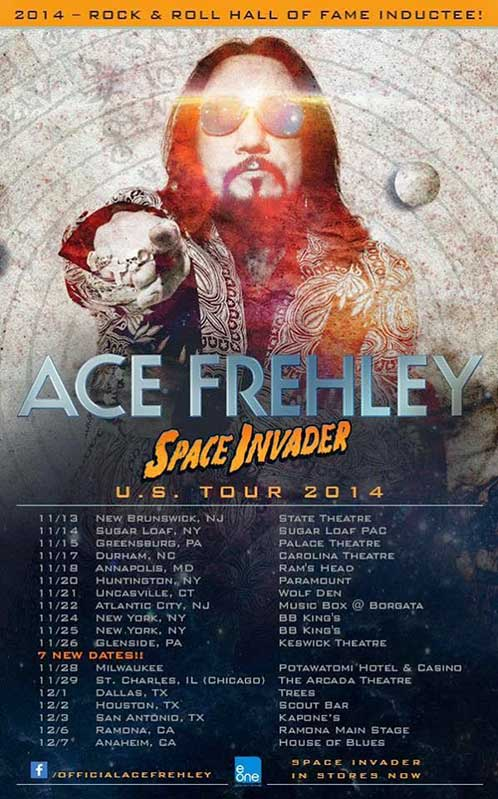 Poster from Ace Frehley Uncasville, CT, USA 21 November 2014 show
