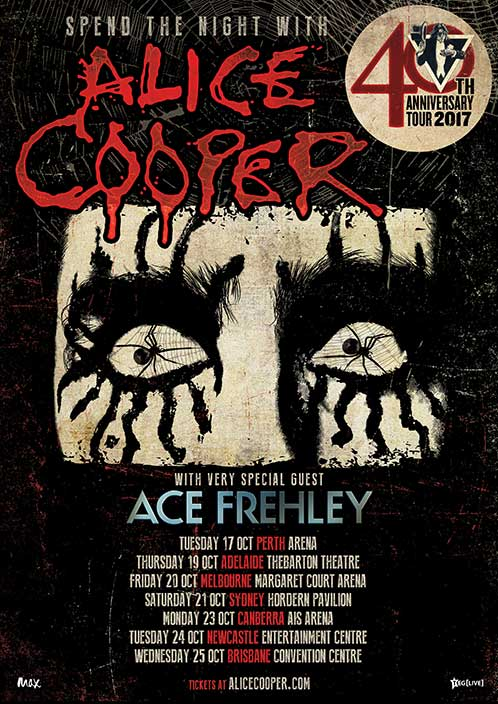 Poster from Ace Frehley Sydney, Australia 21 October 2017 show