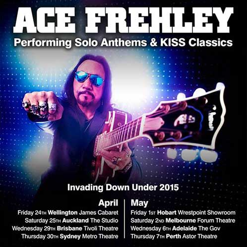 Poster from Ace Frehley Sydney, Australia 30 April 2015 show