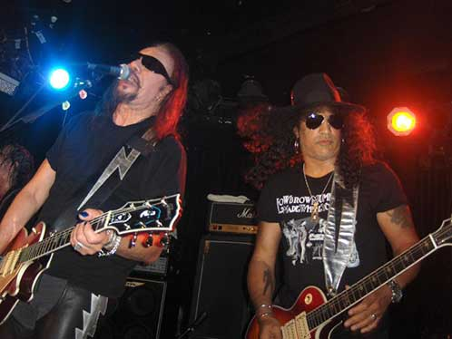 Ace Frehley & Slash at the Viper Room 12 September 2009
