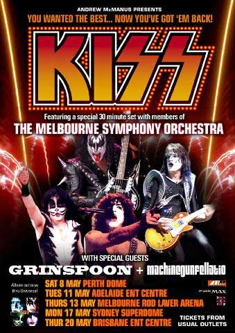 Poster from 13 May 2004 show Melbourne, Australia