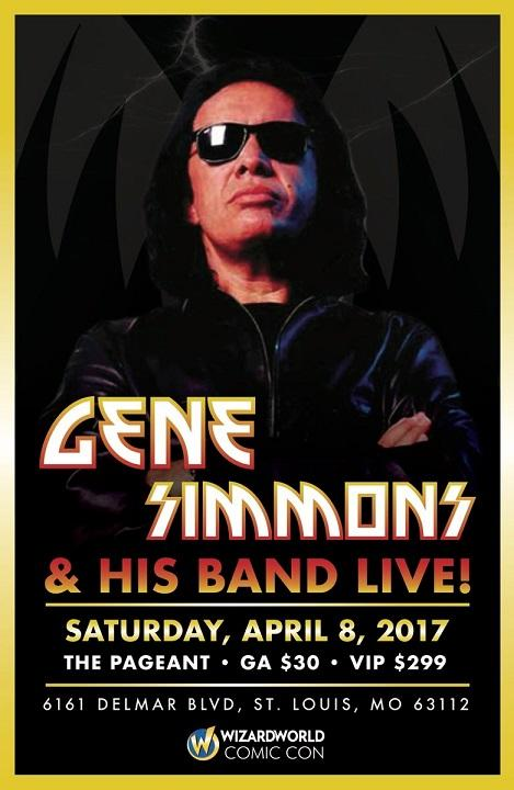 Advert from Gene Simmons Solo St. Louis, MO, USA 08 April 2017 show
