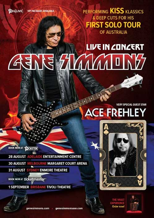 Poster from Ace Frehley Melbourne, Australia 30 August 2018 show