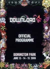 Download Festival 2008 Tourbook Cover